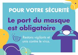 Port du masque obligatoire – Lieux Publics